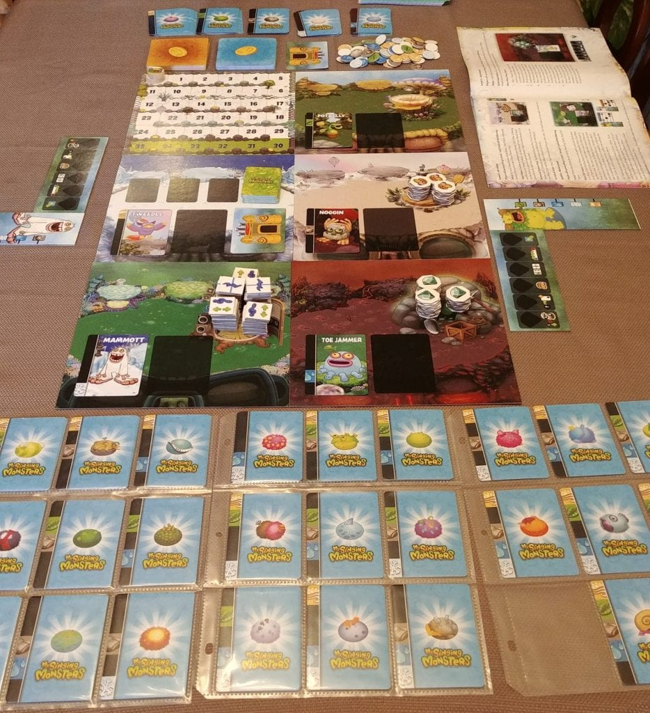 The full layout of the My Singing Monsters board game